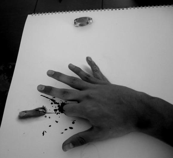 Desenho com efeito 3D feito a lapis, artista Fredo (2)
