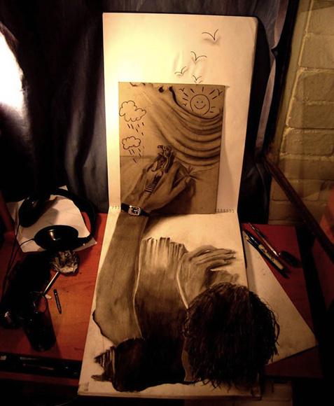 Desenho com efeito 3D feito a lapis, artista Fredo (15)