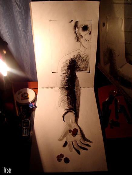 Desenho com efeito 3D feito a lapis, artista Fredo (11)
