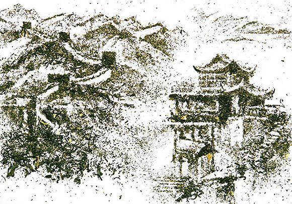 Ilustrações feitas com chá. (12)