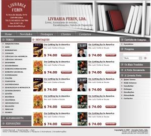 Livraria Ferin - layout de site