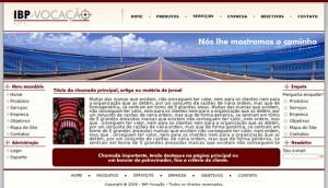 IBP Vocação - layout para site