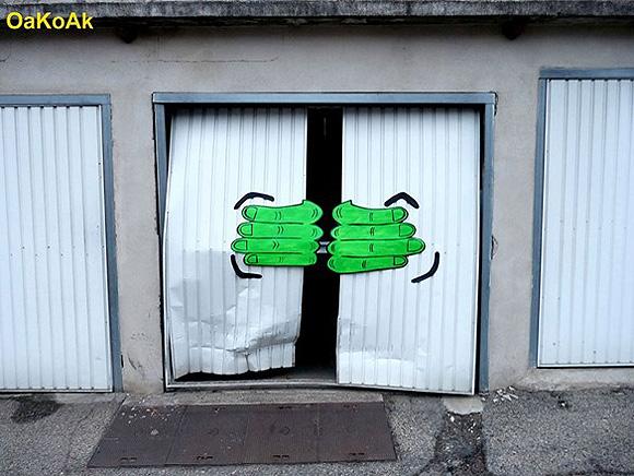 Artes de rua super criativas por Oakoak