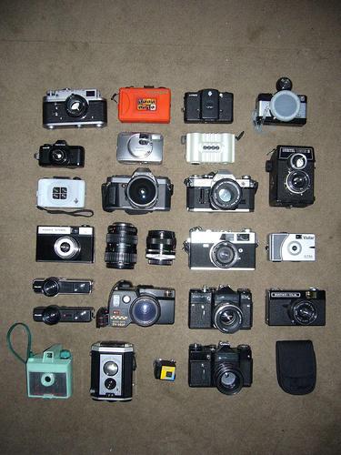 Coleção de máquinias fotográficas